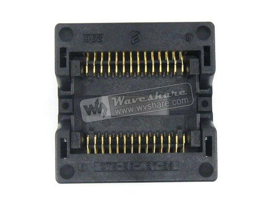 module SOP28 SO28 SOIC28 OTS-28-1.27-23 Enplas IC Test Burn-In Socket Programming Adapter 8.7mm Width 1.27mm Pitch<br>