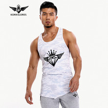 2017 New Gyms Bodyengineers Brand vest bodybuilding clothing and fitness men undershirt tank tops tops golds men undershirt(China)
