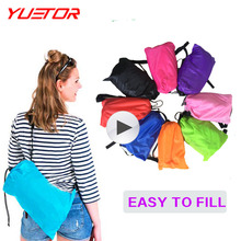 Yuetor 5 Drop ship Beach lay bag Hangout sleep Air Bed Lounger laybag Outdoor fast folding sleeping inflatable air sofa lazy bag