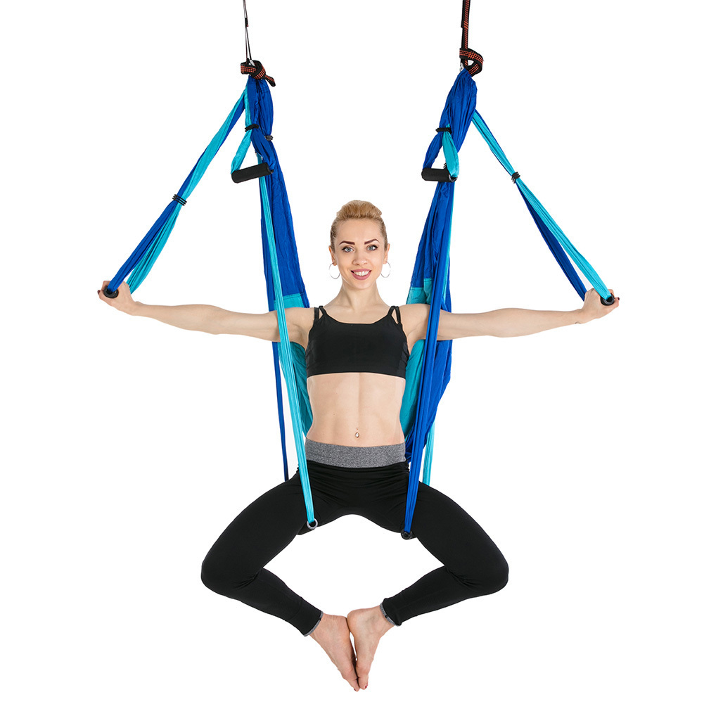 Nylon Taffeta Yoga Hammock Anti-Gravity Aerial High Strength Swing Hamac Hanging Chair Fitness Inversion Belts Can be Hold 200Kg<br>