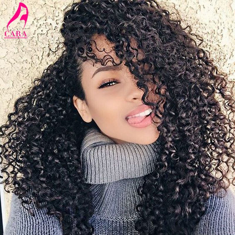 6A Glueless Full Lace Human Hair Wigs For Black Women CARA Hair Products Peruvian Kinky Curly Lace Front Human Hair Wigs<br><br>Aliexpress