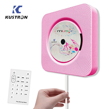 KUSTRON Wall Mounted Bluetooth CD Player, Pull Switch with Remote HiFi Speaker USB Drive Player Headphone Jack AUX input/output(China)