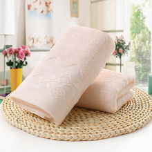 Lovely and attractive Solid color 35*75 Embroidered Soft Cotton Face Flower Towel Cotton Quick Dry Beach Towels