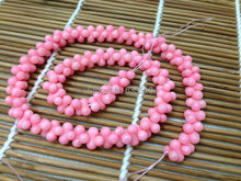 1 strand 3x6mm Pink Sea Bamboo Coral Peanut shape Loose Beads Semi Precious stone bone shape beads DIY Jewelry Making(China)
