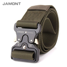 [JAMONT] Military Equipment Tactical Belt Men Nylon Metal Buckle Knock Off Belts US Army Soldier Carry Waist Belt W362