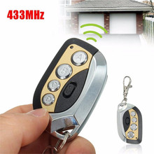 433MHz Wireless Remote Control Universal Cloning Car Gate Garage Door Key Auto Keychain 4 Buttons