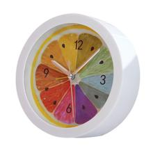 New Colorful Round Shape Mini DIY Alarm Clock Quartz Desktop Plastic Needle Alarm Clock Low Price