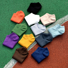 2017 Men's Casual Solid Color Bamboo Charcoal Fiber Slipper Short Sock Wholesale Wz173