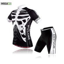 WOSAWE Summer Women Men Specialized Cycling Set Breathable Quick-Dry Clothing Mountain Bike Short Sleeve Riding Gel Jersey Sets