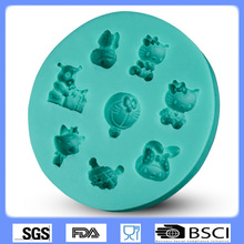 Cute Cartoon Hello Kitty Cake Mold Silicone Baking Tools Kitchen Accessories Decorations Fondant DIY Ddcat Food Grade 9278
