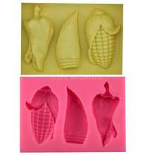 Vegetables maize bamboo pepper Silicone Fondant Soap 3D Cake Mold Cupcake Jelly Candy Chocolate Decoration Baking Tool FQ1820(China)
