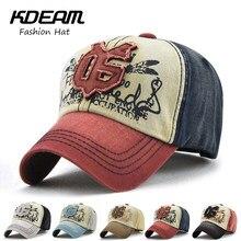 KDEAM Brand 2018 New Summer Baseball Cap 3D Embroidery desgin fashion men  Flat women Beach hat caps 5 colors Good quality 62131 5c8427378126