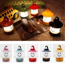 LED Smile Face Night Light Childrens Bedroom Nursery Night Lamp Mini Emitting Children Room Decor Bedside Hanging Lamp
