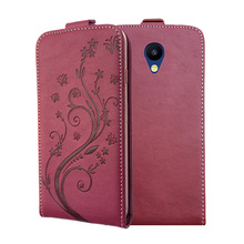 3D Stereo Embossing lace flower butterfly flip up and down leather phone bag cover case for Meizu M5c