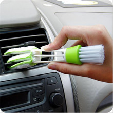 2 in 1 Keyboard Dust Car Air-conditioner Cleaner Computer Clean brush Window Leaves Blinds Clean tools Duster Brush 3(China)