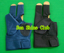 Free shipping 2pcs/lot high stretch 3 finger billiard gloves/Pool Table Snooker shooters billiard table 3 finger 9-ball Glove(China)