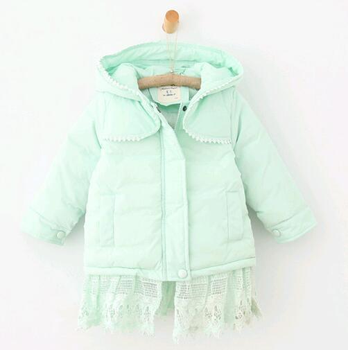 2016 autumn and winter girls children warm hooded zipper lace coats new girl wholesale fight lace thicker solid coatÎäåæäà è àêñåññóàðû<br><br>