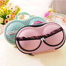 Best Price Creative Women Portable Bra Storage Box Lady Underwear Storage Organizer Box Container Bra Case Lingerie Travel Bags