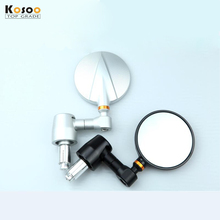KOSOO CNC Aluminum Motorcycle Rearview Side Mirror Handle Bar End For Buell Ducati Yamaha Motorcycle Accessories 7.6*7.6CM 1Pair