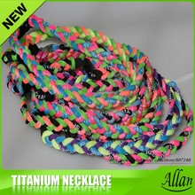 Custom Silicone Twist Titanium Sports Necklace