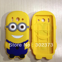 Brand Designe 3D Cute Cartoon Despicable Me Minion Soft Silicone Back Universal Cases Cover for Huawei Ascend G510 Defender Skin(China)