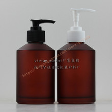 200ml red rose frosted lotion bottle with plastic long-mouth pump.lotion/hand wash/Shampoo/moisturizer/facial water bottle