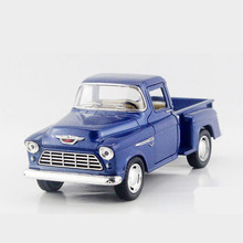 Scale 1:32 KINSMART Simulation Pick-up Model Toy, Die cast Metal Pull Back Car For Collection, Truck Cars, Kids Toys, Juguetes(China)