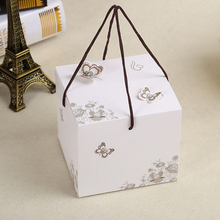 New Style Direct marketing butterfly pattern moon cake box candy box paper cake boxes 10pcs /lot(China)