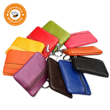 BONAMIE Genuine Leather Coin Purse Women Small Wallet Change Purses Money Bags Children's Pocket Wallets Key Holder Mini Zipper