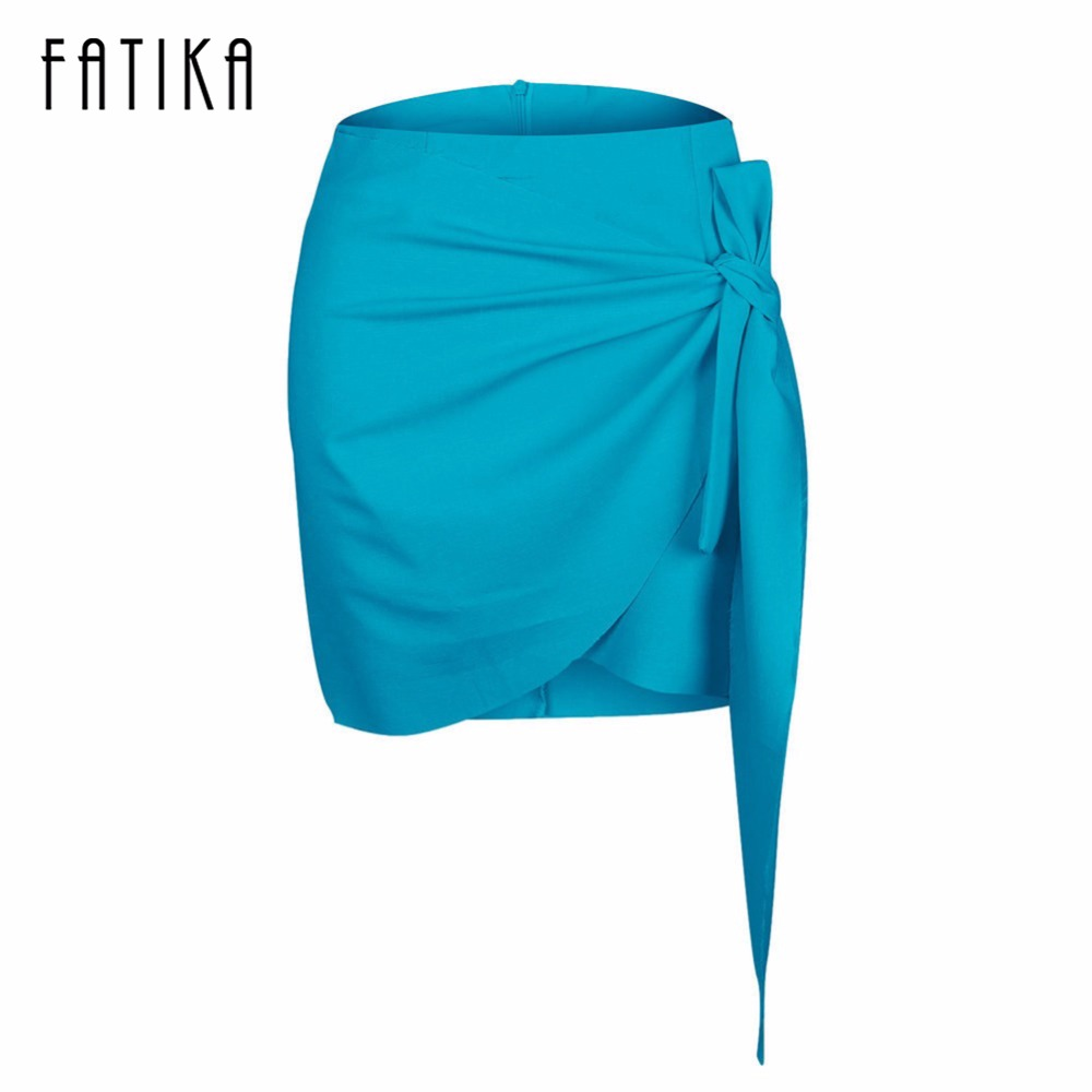 FATIKA 2017 Fashion Women Mini Skirt Ladies Solid High Waist A-Line Skirts Sexy Lace Skirts Women