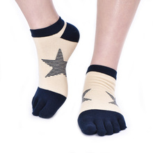 Customized factory manufacture bulk men ankle socks cotton five toe socks 6pairs(China)