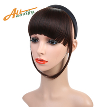 Buy Allaosify Heat Resistant Synthetic Hair Short Blunt Bangs Women headband Bang Hair 12cm Long 5Color Available for $4.66 in AliExpress store