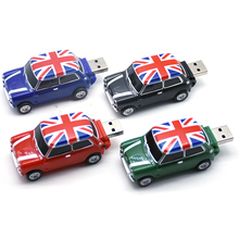 Mini cooper Creative pen drive U disk 4GB 8GB 16GB 32GB 64GB USB cute mini car usb flash drive pendrive usb stick Hot gift disk(China)