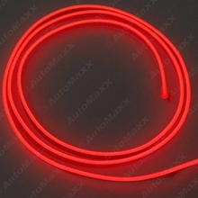 Red 3m Flexible Moulding EL Neon Glow Lighting Rope Strip with fin for Car Decoration  #J-3269