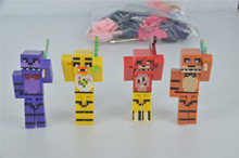 8pcs/set Five Nights At Freddy's 4 FNAF Foxy Chica Bonnie Freddy Action Figures Game Kid Toy Doll Gift