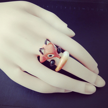 Three Sets Animal Rings Gold Colour Anillos Mujer Fox Ring Set Bague Femme Open Creative Ring For Women Bridesmaid Gift