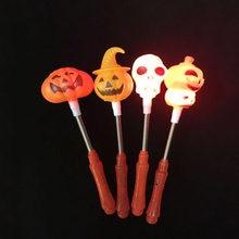 4pcs Creative Halloween LED Light Toy Pumpkin Ghost Plastic Glow Stick  Halloween Costume Glow Light-Up Toys random 6b52c4f9343e