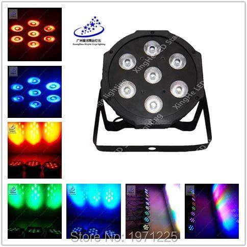 (2pcs) Wireless remote control Fast Shipping LED SlimPar Tri 7x9W RGB LED Stage Wash Par Light DJ 7 DMX Channels<br>