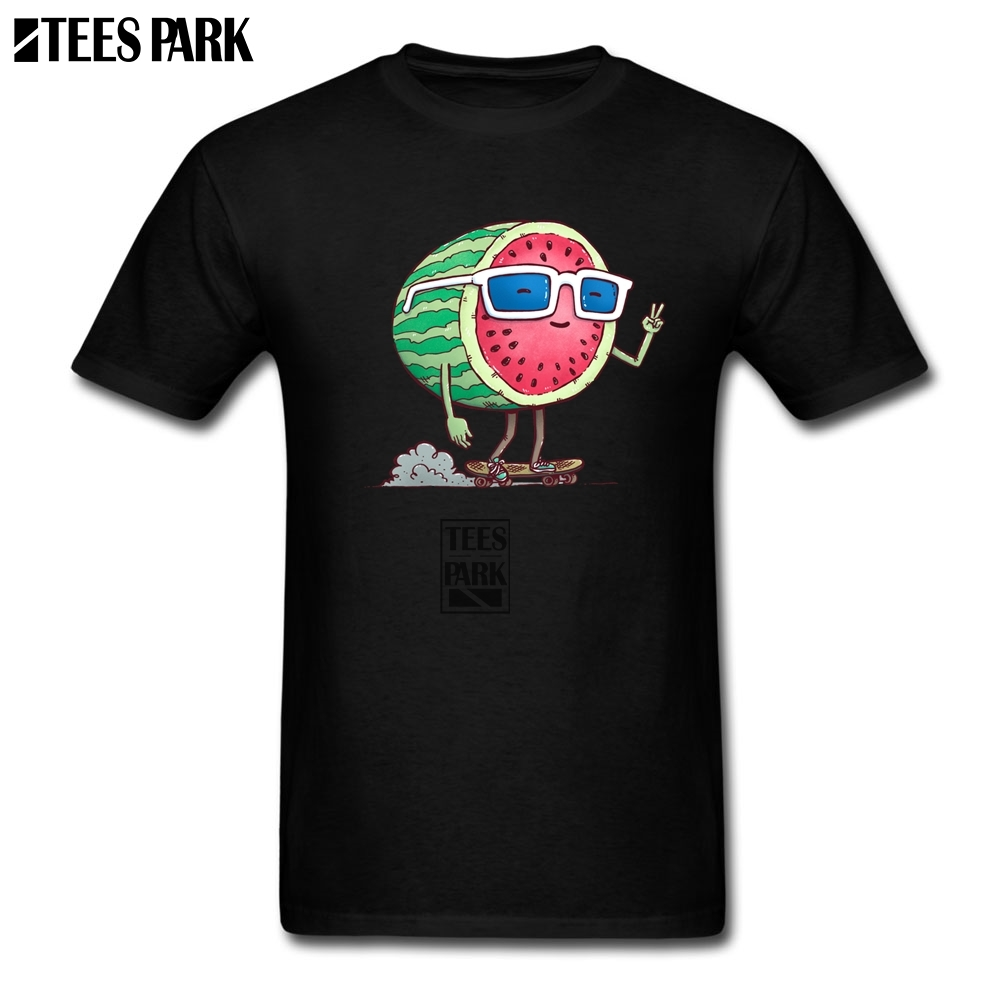 T Shirts for Male Watermelon Skater Tee Shirts Male Pre-Cotton Short Sleeved T-Shirts Hot Sale Adult Release Shirt Sale