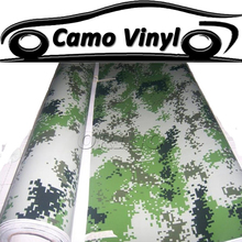 Car Styling Military Green Digital Camouflage Vinyl Wrap Army Green Camo Film Sticker Auto Vehicle Covers Wraps Air Bubble Free
