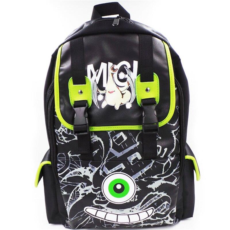 Parasyte Anime Harajuku Cosplay Shoulders Bag Large Capacity Unisex PU Schoolbag Travel Backpacks Free Shipping<br>