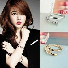 Korean Fashion Personality Nail Ring Korean Star Jewelry Boys Personality Ladies Couple Influx Of People Circle
