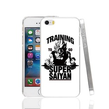 22472 Training to go Super Saiyan Dragon ball Z Cover cell phone Case for iPhone 4 4S 5 5S SE 5C 6 6S 7 Plus
