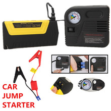 hot sell 12v Portable mini jump starter car jumper with pump 2USB booster power battery charger mobile phone laptop