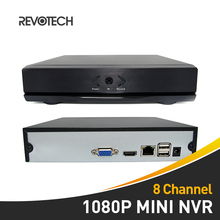 8 Channel H.264 Mini HD 1080P NVR Network Video Recorder HDMI 8 CH CCTV NVR for IP Camera Support CMS ONVIF P2P System (Black)(China)