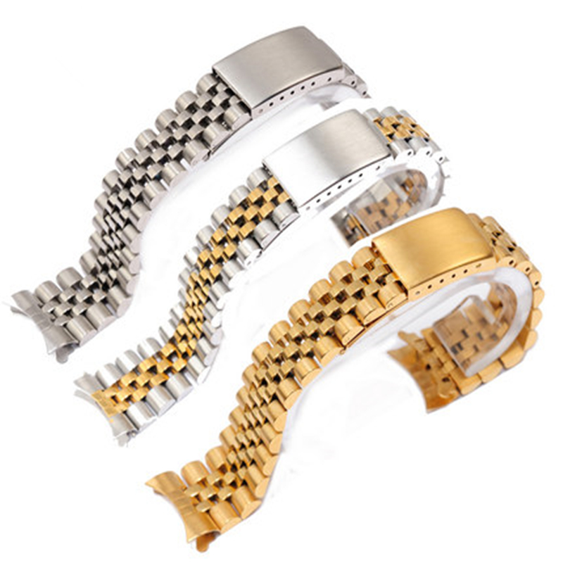 TJP 13mm 17mm 20mm Stainless steel Watch Bands Strap For Daytona Drowner Dateadjust Oysterflex Replace ROLE Wristband<br>