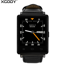 XGODY D6 GPS Android Smart Watch With SIM Card Heart Rate Monitor Fitness Tracker Wifi 3G Wrist Watch Cell Phone for Men PK KW88(China)
