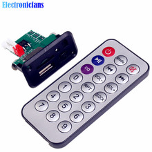 Car 5V/12V Mini MP3 Decoder Board USB TF U-Disk Reader MP3 Player Amplifier With IR Remote Controller For Arduino(China)