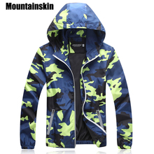 Mountainskin Camouflage Jackets Men's Coats 2017 Spring Summer Casual Camo Male Jackets Army Military Men Outerwear Slim SA215