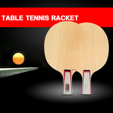 Indoor Outdoor Sports Table Tennis Racket Short Long Handle Ping Pong Paddle Bat Racket Table Tennis Blade Shakehand / Penhold(China)